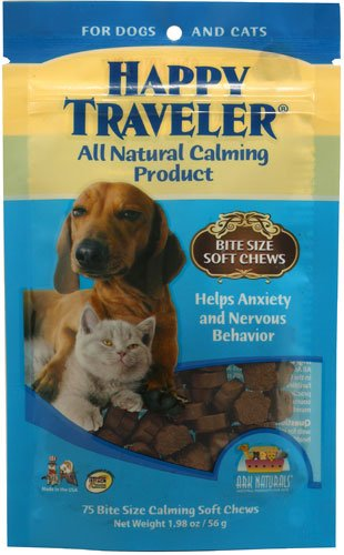 Ark Naturals Happy Traveler For Dogs And Cats - 75 Soft Chews (Ark Naturals Happy Traveler)