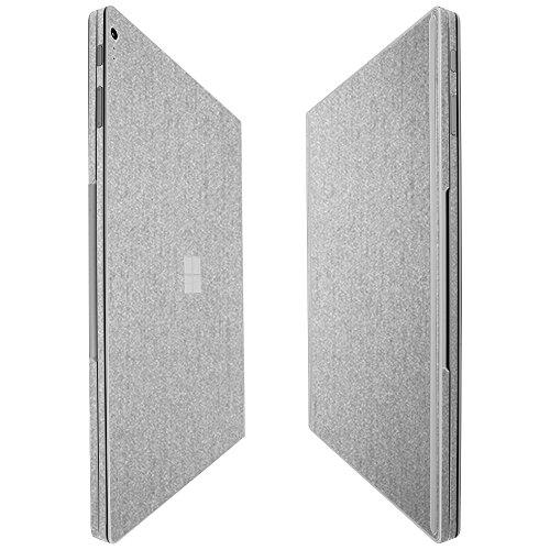 "Microsoft Surface Book 2 13.5"" Screen Protector + Brushed Aluminum Full Body, Skinomi TechSkin Brushed Aluminum Skin for Microsoft Surface Book 2 13.5"" with Anti-Bubble Clear Film Screen"