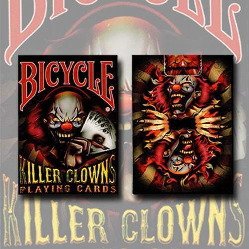 Mazzo di carte Bicycle - Killer Clowns - Mazzi Bicycle - Carte da gioco - Giochi di Prestigio e Magia U.S.P.C.C.