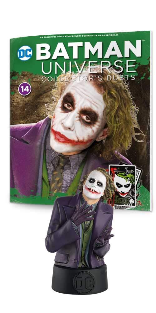DC BATMAN UNIVERSE MINI BUST COLLECTION #14 DARK KNIGHT MOVIE JOKER EAGLEMOSS