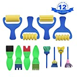 Toys : YGDZ Top Quality 12 Pack Early Learning Mini Flower Sponge Painting Brushes Craft Brushes Set for Kids Shipping by FBA