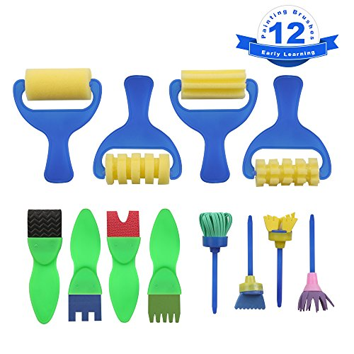 Sponge Painting Brushes Set for Kids