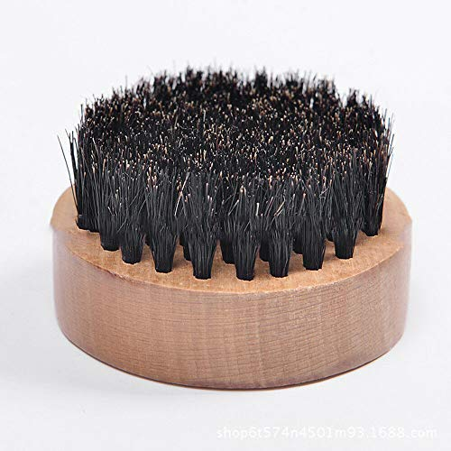 Natural Boar Bristle Beard Brush Mustache Hair Face Cleaning Wood Handle Comb (Color - 2#)
