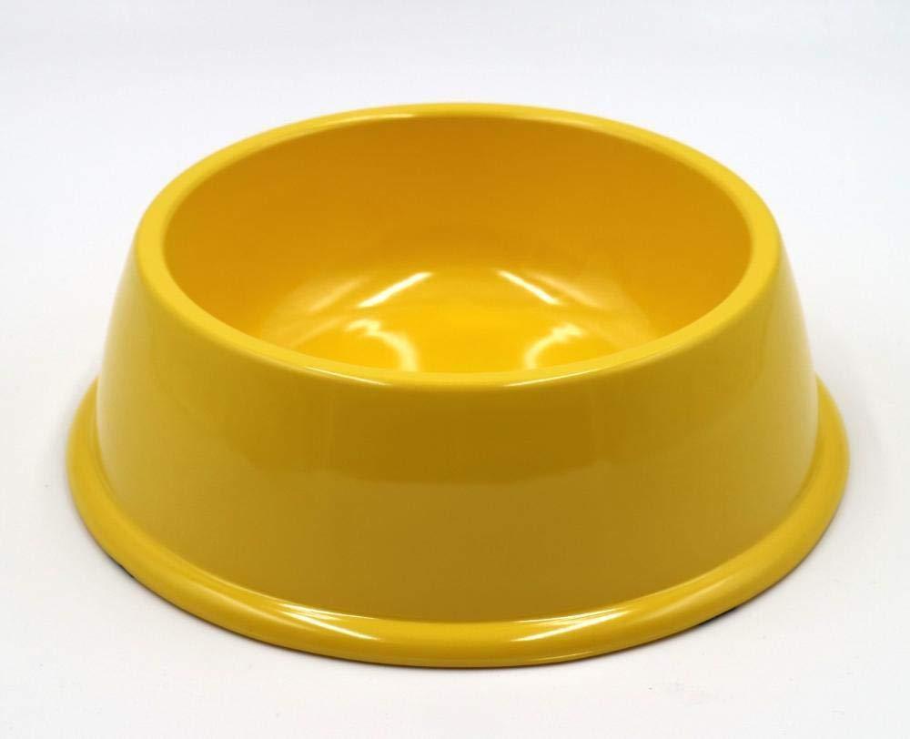 Daeou Ciotola del cane,Ciotola melamina antiscivolo rossoonda Dog Pet Supplies 21x6.5cm