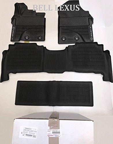 LEXUS OEM Factory All Weather Floor MAT Liner Set 2013-2018 LX570 Black