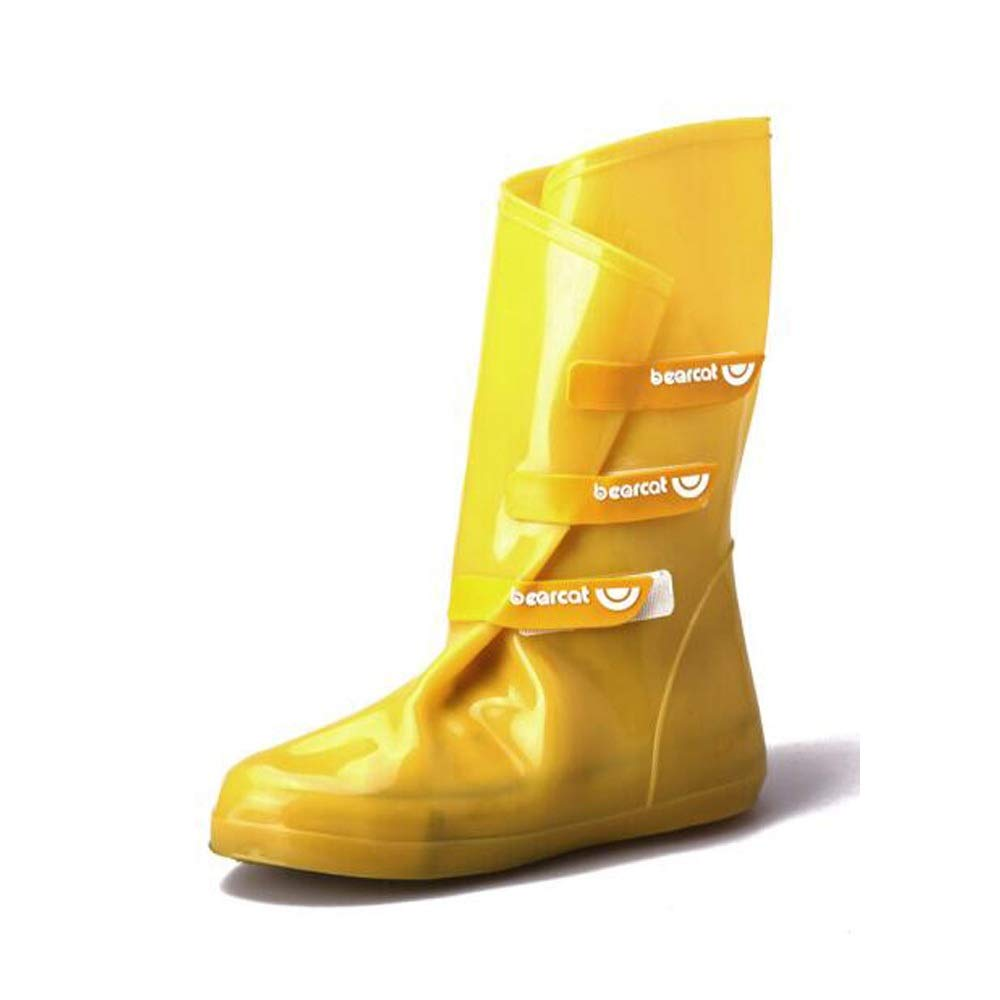 WUZHONGDIAN Shoe Cover, Made of Environmentally Friendly PVC, Rainproof and Non-Slip high Shoe Cover, Adjustable, Reusable Shoe Cover (Color : Yellow, Size : M(37/38)) by WUZHONGDIAN