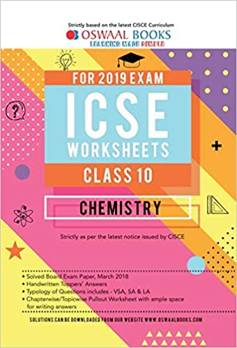 Amazon in: Buy Oswaal ICSE Worksheet Class 10 Chemistry (For March