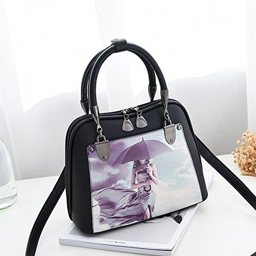 Character Printing umbrella GUANGMING77 woman Painting 3 NO Bag Bag Bags IqCtCxBTwF