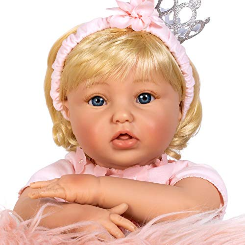 Paradise Galleries Reborn Toddler Crown Princess Doll, 20 inches, GentleTouch Vinyl, 7-Piece Doll Set]()
