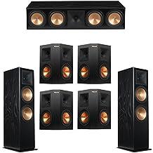 Klipsch 7.0 Black Ash System with 2 RF-7 III Floorstanding Speakers, 1 RC-64 III Center Speaker, 4 Klipsch RP-250S Surround Speakers