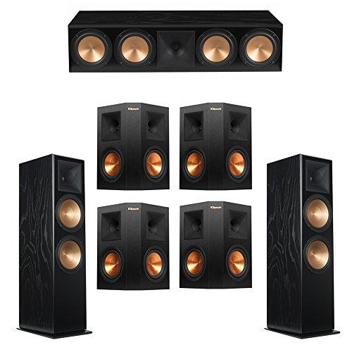 Klipsch 7.0 Black Ash System with 2 RF-7 III Floorstanding Speakers, 1 RC-64 III Center Speaker, 4 Klipsch RP-250S Surround Speakers (Klipsch Rc 64 Ii Center Channel Speaker)