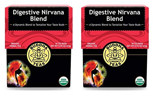 - Buddha Teas Natural Digestive Nirvana Blend Tea (Pack of 2) With Anise Seed, Ginger Root, Papaya Leaf, Licorice Root and Fennel Seed, 18 Count Each