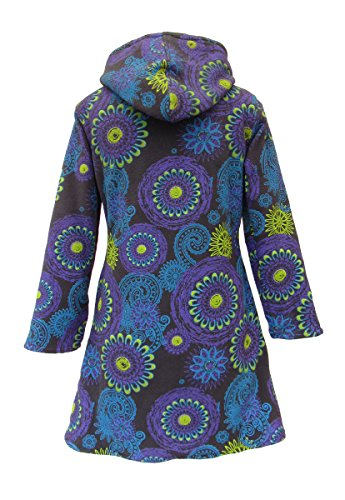 Winter New Hood Coat With Fleece Mandala Wicked Bohemian Dragon wRxqznva