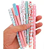 WIN-MARKET Fashion Cute Colorful Cute funny Kawaii lovely Colorful Gel Ink Pen Roller Office Stationary Supply Korean Little Stationery (10PCS)