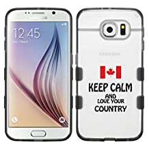 Samsung Galaxy S6 Keep Calm And Love Your Country Canada On Glassy Transparent Clear Gummy Cover (transparent/black)