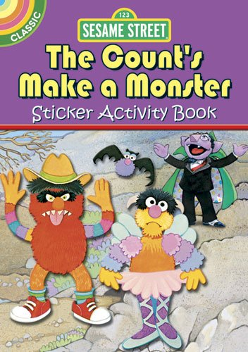 Sesame Street Classic The Count's Make a Monster Sticker Activity Book (Sesame Street Activity Books) (English and English Edition) -