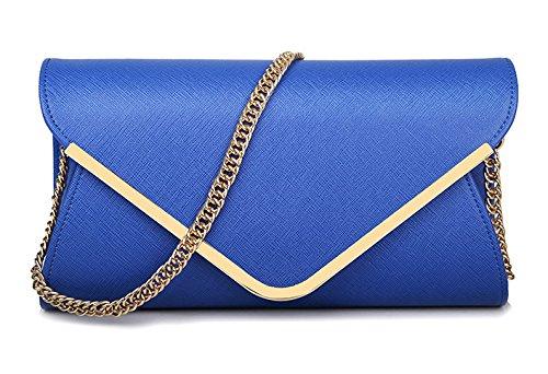 Rose Métal pour à Main à Bracelet Bandoulière avec rouge Sac Enveloppe Sac Bleu Bandoulière Femmes Embrayage Sac Mode Sac PBwXqxI5an