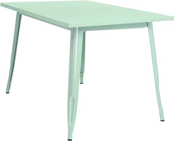 SKLUM Mesa LIX (120x80) Acero Brillante Verde Menta - (Elige Color ...