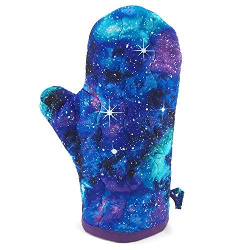 Galaxy Oven Mitt - Blue, Purple and Green Cotton Pot Holder