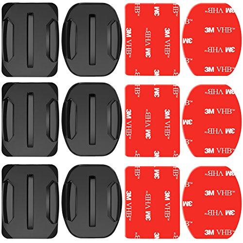 Neewer 3-Pack Adhesive Mounts for GoPro Hero 6 5 4 3+ 3 2 1 Hero Session 5 Black AKASO EK7000 Apeman SJ4000 5000 6000 DBPOWER AKASO VicTsing WiMiUS Rollei QUMOX Lightdow Campark and Sony Sports DV