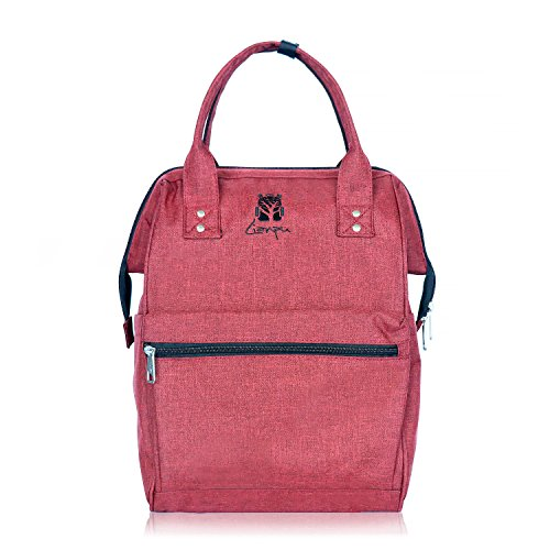 BAGSMITH Multi-Function Diaper Bag Nappy Bag Laptop Backpack Travel Backpack Mummy Women Bag Lightweight Large Capacity Stylish Durable (red) by Bagsmith