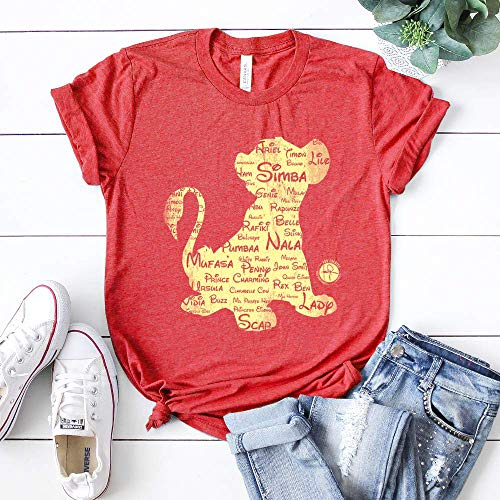(Simba Disney Names T-shirt Lion King Toy Story Women & Men Graphic Unisex Tee)