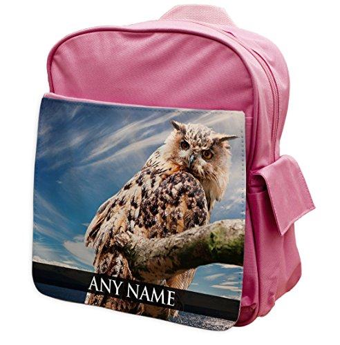 personalisierbar Owl II Animal Pink Rucksack Rucksack 218