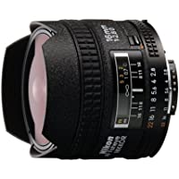 Nikon AF FX Fisheye-NIKKOR 16mm f/2.8D Fixed Lens with Auto Focus for Nikon DSLR Cameras