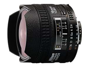 Nikon AF FX Fisheye-NIKKOR 16mm f/2.8D Fixed Lens with Auto Focus for Nikon DSLR Cameras