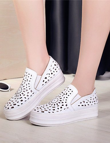 ZQ gyht Zapatos de mujer-Plataforma-Creepers / Comfort / Punta Redonda-Mocasines-Exterior / Vestido / Casual-Semicuero-Negro / Rojo / Blanco / , silver-us10.5 / eu42 / uk8.5 / cn43 , silver-us10.5 / e white-us7.5 / eu38 / uk5.5 / cn38