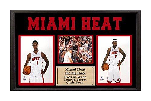 Encore NBA Miami Heat The Big Three 15 x 35 3-Photo Frame, Multi
