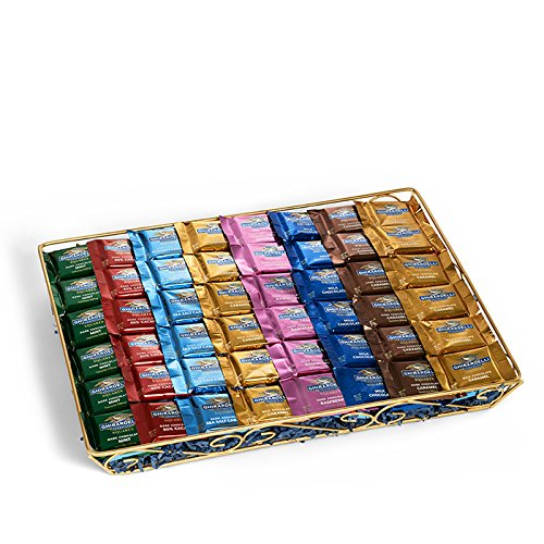 Ghirardelli Ultimate Chocolate SQUARES Gift Basket with Assorted Chocolate SQUARES, 120 pc