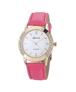 Frunalte watch, Casual Luxury Geneva Fashion Women Diamond Analog Leather Quartz Wrist Watch Watches Clearance on Sale