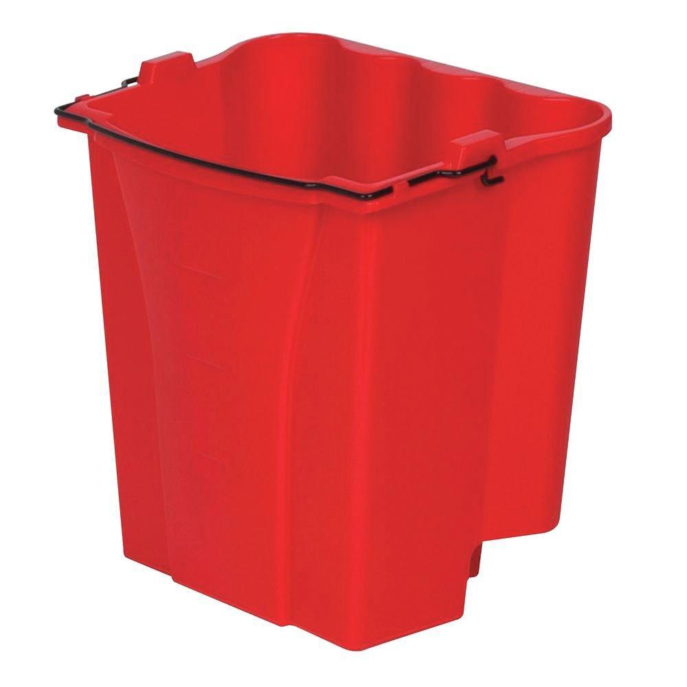 Rubbermaid 18 qt Red Plastic Dirty Water Bucket for 35 qt WaveBrake Mop Bucket