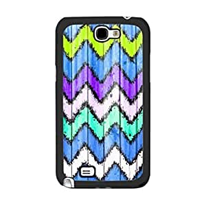 Chevron Pattern Colorful Design Wood Grain Print Blue For Case Samsung Note 3 Cover protective cell phone Skin zsD3QMcDtch