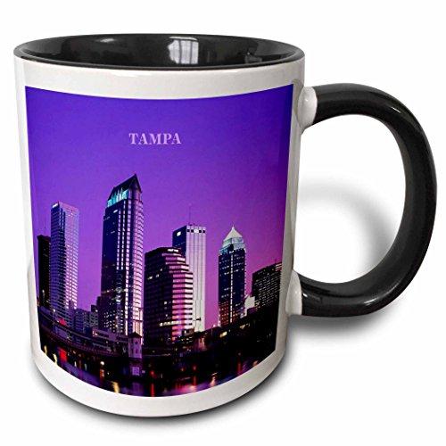 3dRose 3dRose A Sunset In Tampa Florida - Two Tone Black Mug, 11oz (mug_61887_4), , - Florida Tampa Outlets