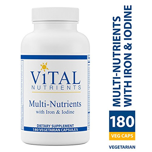 Vital Nutrients - Multi-Nutrients with Iron & Iodine - Comprehensive Multi-Vitamin/Mineral Formula Containing Iron and Iodine - 180 Capsules Comprehensive Multivitamin
