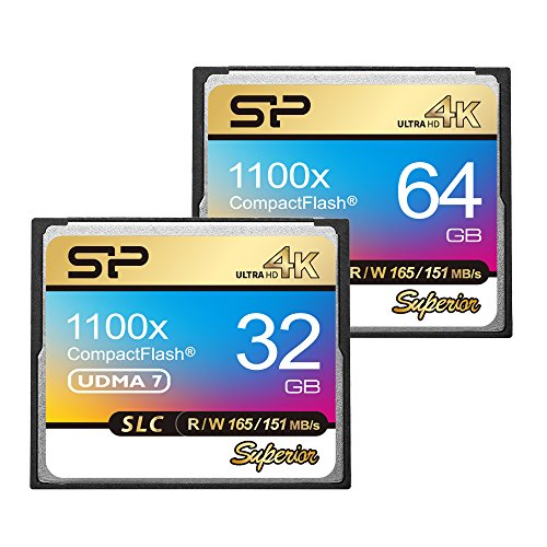 Silicon Power SP SLC NAND Flash Superior CF 1100X VPG-65 Compact Flash Card (SP064GBCFC1K1V10) by Silicon Power (Image #1)