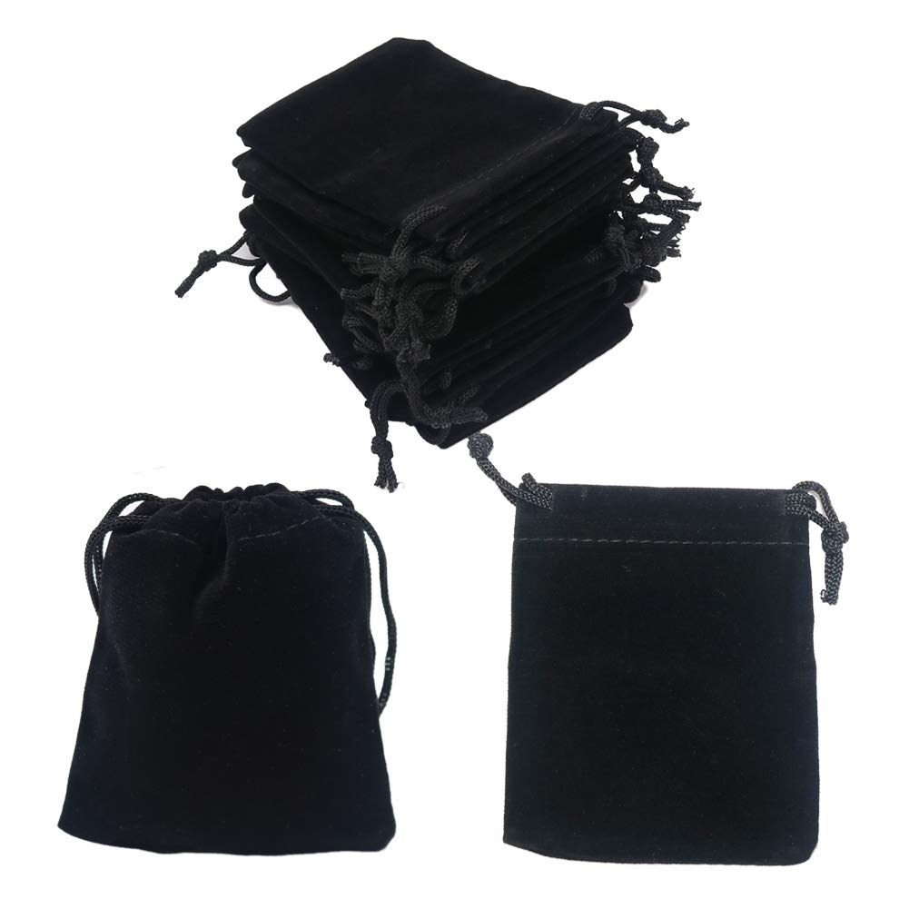 Amazon.com: HRX Paquete de 20 bolsas de terciopelo con ...