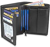 TRAVANDO ® Geldbeutel Männer Chicago - Extra Geräumig - 13 Kartenfächer - TÜV geprüft - Hochformat - RFID Schutz -...
