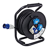 Carbest CEE Camping – Cable Reel 25 Metre 2.5 mm, 3600 Watt 16 A Thermal Circuit Breaker IP44 I
