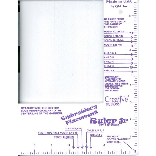 - Creative Notions Embroidery Placement Ruler Jr (Little Buddy)
