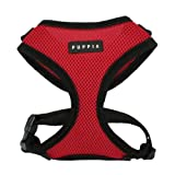 Puppia Superior Dog Harness – Red – SM (9.5″-11″N x 12.5″x17″G), My Pet Supplies