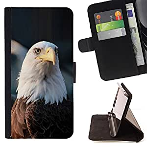 BullDog Case - FOR/LG OPTIMUS L90 / - / bald eagle national symbol American /- Monedero de cuero de la PU Llevar cubierta de la caja con el ID Credit Card Slots Flip funda de cuer