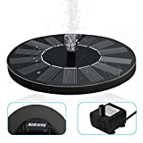 Ankway 1.4W Solar Bird Bath Fountain Pump, Freestanding Solar Fountain Pump Panel Kit Outdoor Tub Watered Submersible Pump Garden and Yard