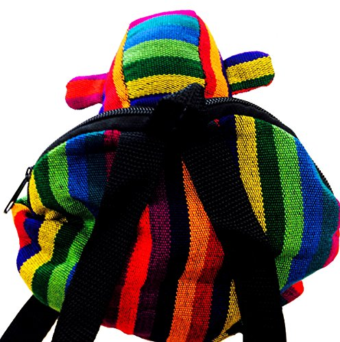 PURSE HIPPY backpack BAG GUATEMALAN MULTICOLOURED travel FAIRTRADE ANIMAL Monkey m33 g7UwqTnBA