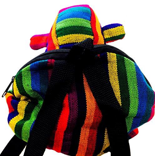 PURSE MULTICOLOURED Monkey GUATEMALAN HIPPY m33 BAG FAIRTRADE ANIMAL backpack travel 6axqXw