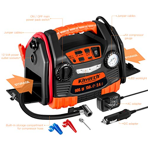 Buy portable jump starter and air compressor