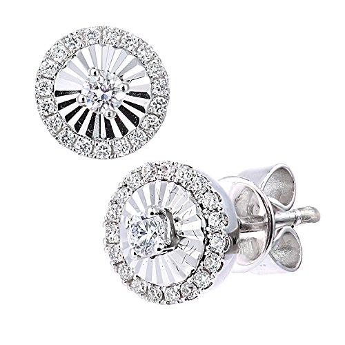 Naava Femme 18carats (750/1000) Or blanc Rond Blanc Diamant