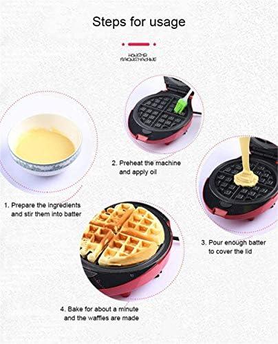 LILAODA Waffeleisen 3 in 1 Antihaftbeschichtung Edelstahl-Finish für Paninis Kekse Hash Browns Andere Unterwegs Frühstück Mittagessen oder Snacks Rot Perfect